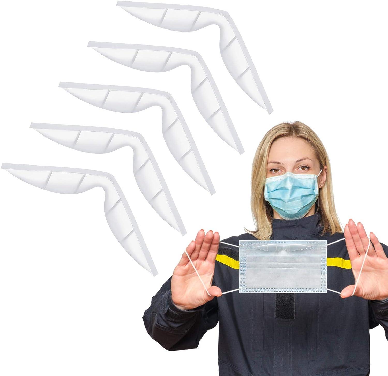 Almohadillas anti niebla nariz puente para máscara silicona autoadhesivo tira de protección suave y cómodo marco de apoyo para la nariz ( 5 piezas)