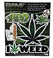 BAMFdecals 420 Mary Jane Marijuana Leaf I love Weed Stoners Sticker Kit Type 2 from Bamfdecals