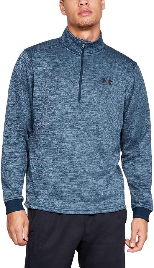 Under Armour Men/'s Fitted Half Zip UA Heat Checkin Shooting Shirt-Black