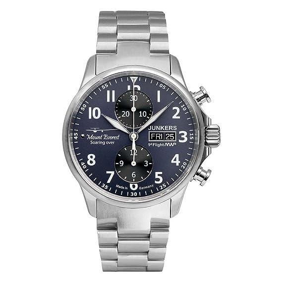 Junkers reloj hombre Serie Mountain Wave Project cronógrafo automática 6824M-3: Amazon.es: Relojes
