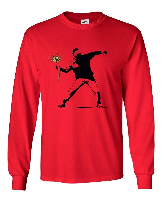Banksy Flower Thrower - Men's Long Sleeve T-Shirt