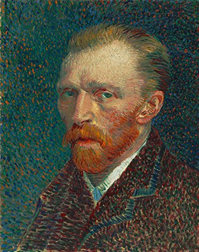 Van Gogh 自画像1887年2 Self Portrait 1887 2 キャンバス複製画 30X40cm 肖像画 絵画 完全に立体に複製 3D 印刷 美術品 部屋 壁掛け 木枠なしの商品画像