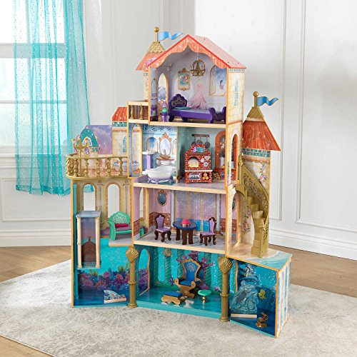 ALL NEW! KidKraft Ariel Under the Sea Kingdom Dollhouse, Massive 5' Tall Dollhouse featuring 4 Levels with 11 Areas of Play, Perfect Gift for your Princess by KidKraft