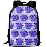 Webb Backpack Laptop Travel Hiking School Shoulder Bag Jewelry Seashell Daypacks
