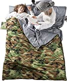Chillax Double Sleeping Bag for Camping, Backpacking or Hiking – Perfect Sleeping Sack for Couples – Extra Large 3 Season Waterproof Sleeping Bag for 2 Person, Adults, Seniors – Best Unique Gift !