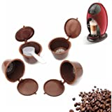 Funnytoday365 4Pcs/Pack Use 200 Times Refillable Dolce Gusto Coffee Capsule Nescafe Dolce Gusto Reusable Capsule Dolce Gusto Capsules