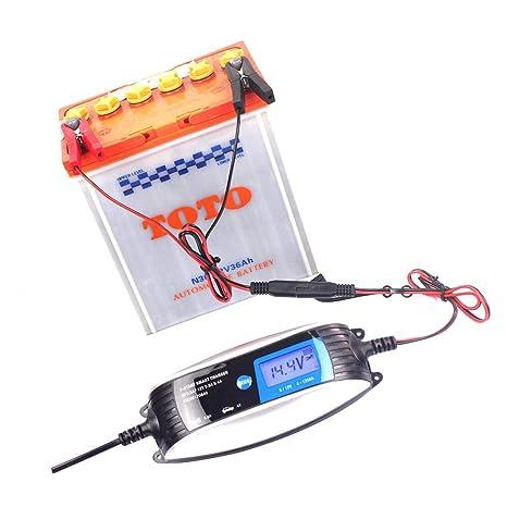 Demino 6 V 12 V 0,8 A 4 A Cargador de batería automático ...