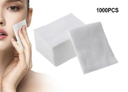 1 caja (1000 piezas) toalla desechable de algodón facial suave almohadillas de algodón desechables