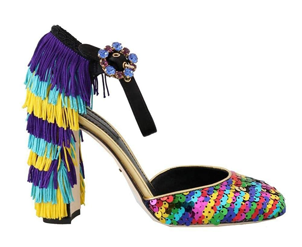 - Multicolor Sequined Crystal Sandals