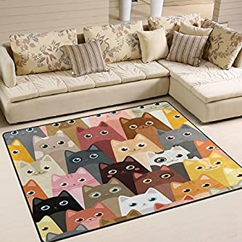 Amazon Com Alaza Hipster Cat Kitten Dollar Money Area Rug