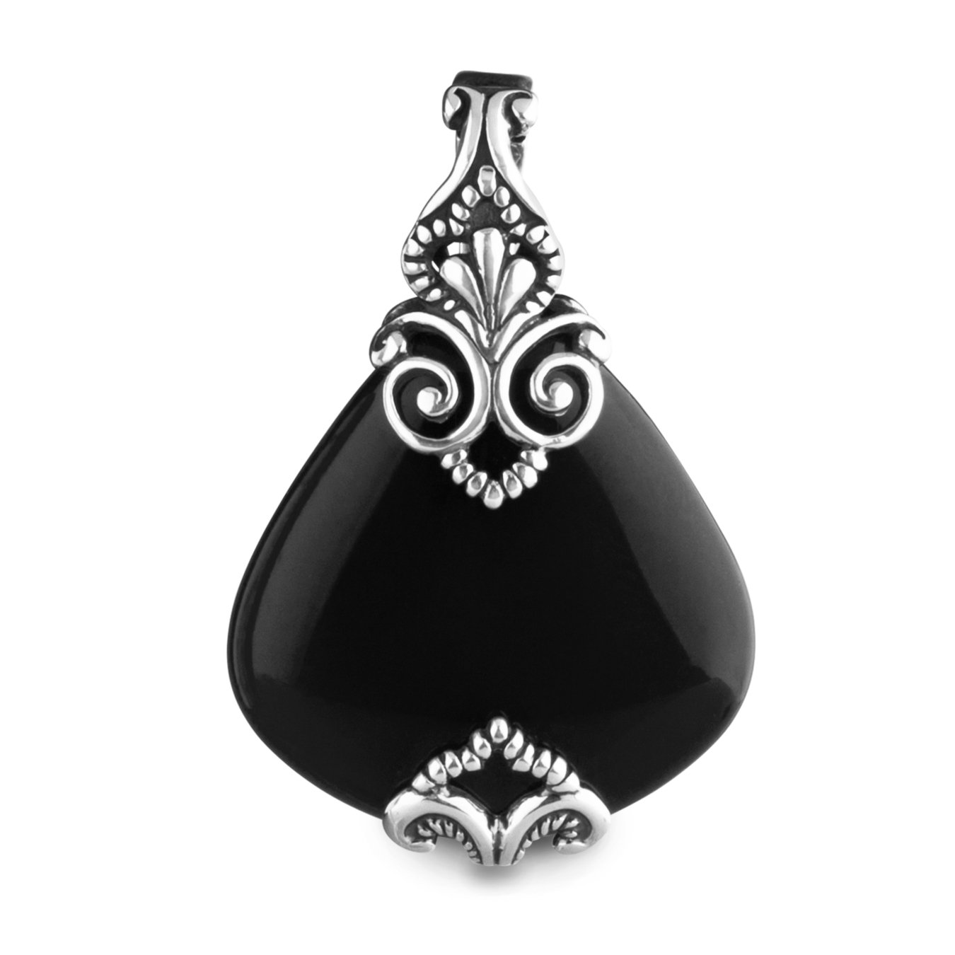 Carolyn Pollack Sterling Silver Black Onyx Pendant Enhancer