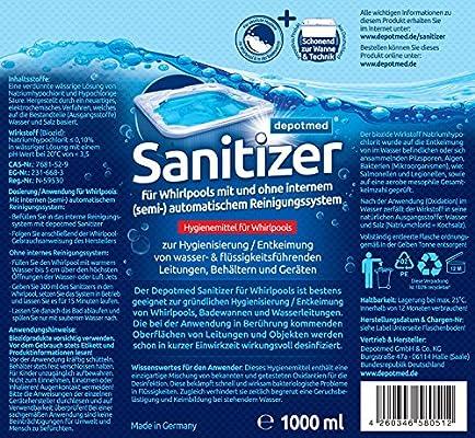 depotmed® Sanitizer para Whirlpool Desinfectante Lavado de ...