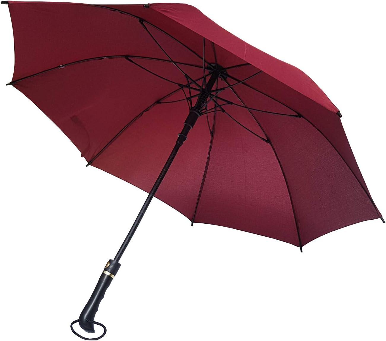 Paraguas XXL 120 cm Rojo Oscuro de 8 robustas Varillas Antiviento ...