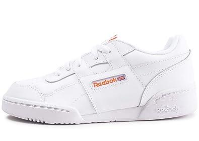 competitive price a0e29 0509c Reebok Workout Plus Chaussures de Fitness garçon, Multicolore  (Fcu White Bright Lava
