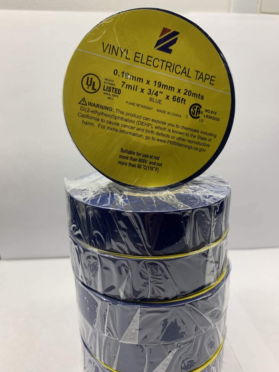X 66FT PROFESSIONAL ELECTRICAL TAPE ELECTRICAL TAPE UL//CSA LISTED CORE UTILITY VINYL RUBBER ADHESIVE ELECTRICAL TAPE: 3//4IN - FLAME RETARDANT 1 ROLL BLACK