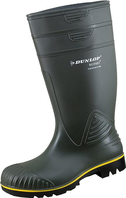 Acifort Caoutchouc Non de en Dunlop Safety apos;Bottes Olive 9eHYE2DWI