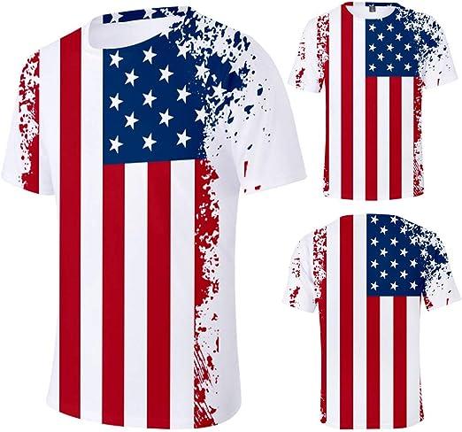 CAOQAO- Camiseta Blanca para Hombre de la Bandera de los EE. UU. Camiseta atlética del Levantamiento de Pesas atlético patriótico Americano los EEUU: Amazon.es: Ropa y accesorios