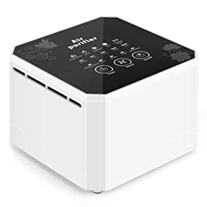 potulas Air Purifier with True HEPA Filter, 3-in-1 Desktop Air Cleaner Eliminates Pet Dander, Smoke, Odors, Dust and More, Great for Personal Desk, Bedroom, Small Spaces