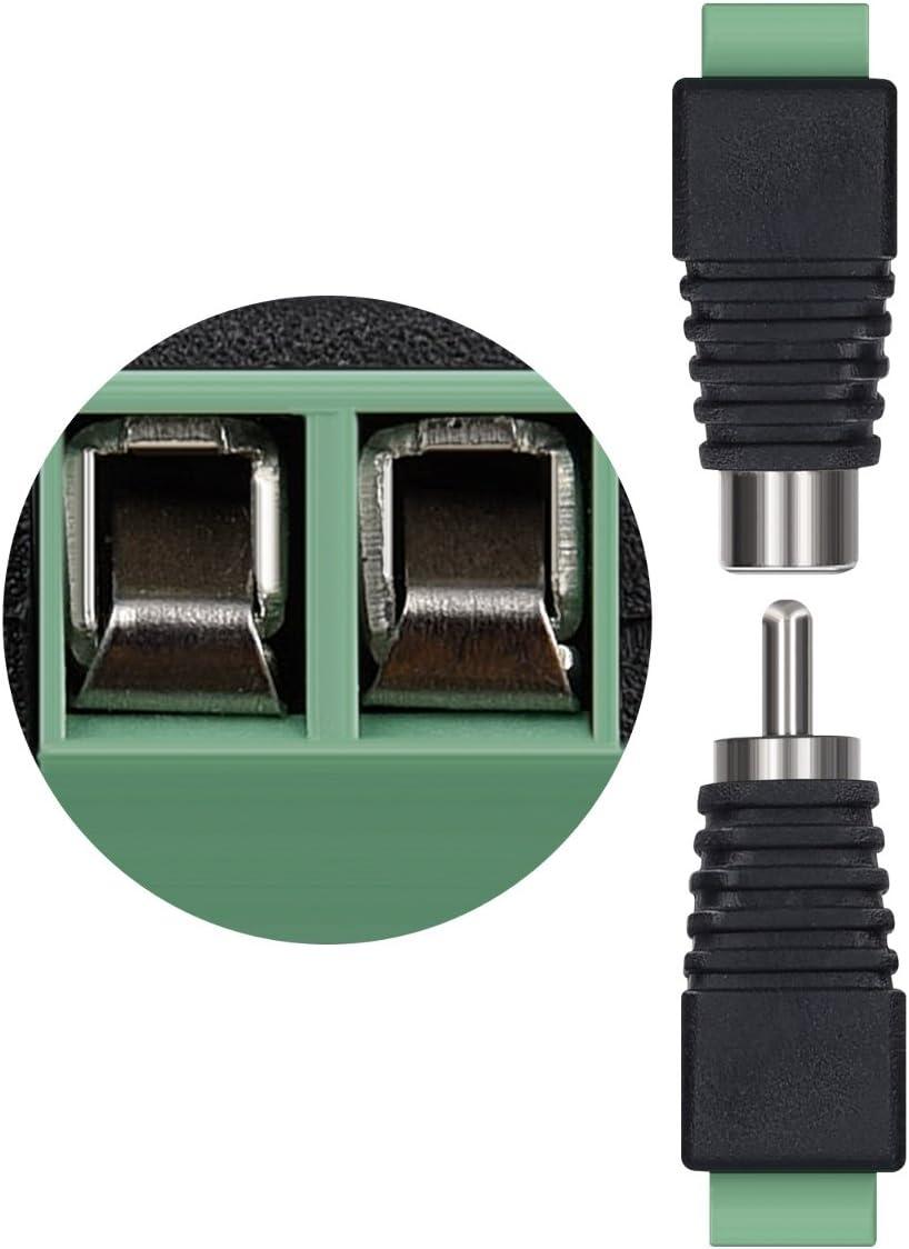 5X DC-Anschluss 3,5 mm x 1,35 mm-Buchse auf 5,5 x 2,1 mm-Steckeradapter JD