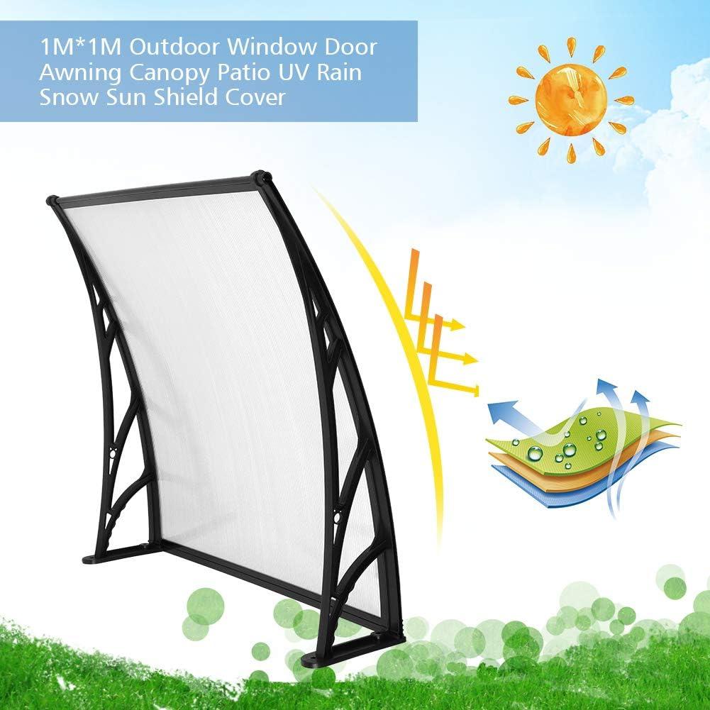 UV-Regen 1 m x 1 m Schneeschild Brown Plate Black Support /Überdachung Terrasse Markisen Fenster f/ür den Au/ßenbereich Zoternen T/ürmarkise T/ür