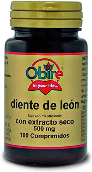 Diente de león 500 mg. (ext. seco) 100 comprimidos.