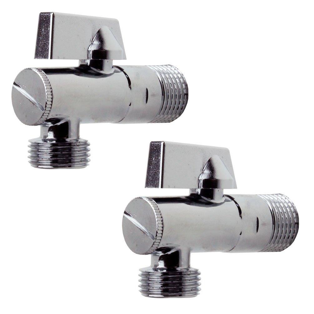 Eckregulierventil Wasseranschluss Verteiler Absperrventil Sanixa JL19SETE38 2er Set Design Eckventil f/ür K/üche /& Bad mit Filter 1//2 Zoll