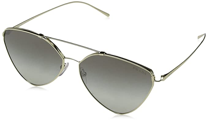 e9af58c081 PRADA Women s 51US 0PR51US ZVN5O0 62 Sunglasses Pale  Gold Gradientgreymirrorsilver  Amazon.co.uk  Clothing