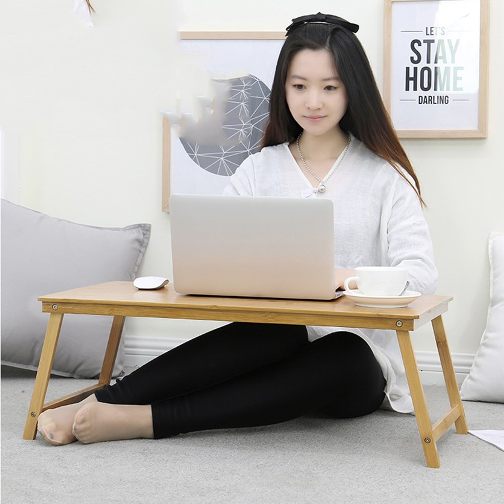 PENGFEI Solid Wood Laptop Stand for Desk Foldable Portable Bed Table College Students Dorm Room Learn Read Solid Wood, 3 Sizes (Color : 70x39x47CM) by PENGFEI-xiaozhuozi (Image #4)