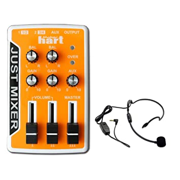 Guitarra eléctrica Hart solo mezclador de audio DJ mezclador Karaoke Mixer + micrófono, naranja: Amazon.es: Instrumentos musicales
