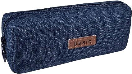 Rolin Roly Estuche Escolar Pequeña Bolsa Para Lapices Estudiante Plumier Lápices Bolsa Pencil Case (Azul oscuro): Amazon.es: Oficina y papelería