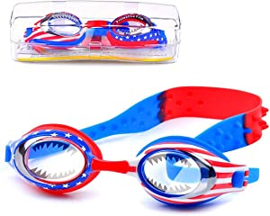Kids Swim Goggles Boys Swimming Goggles Waterproof Swimming Glasses with Clear Wide Vision Anti Fog UVA/UVB Protection and No Leak Soft Silicone Gasket for Child Boys Ages 3-14 Years Old