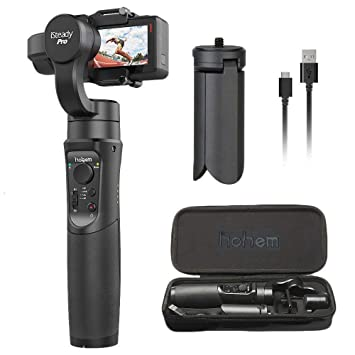 HOHEM iSteady Pro 3-Axis Handheld Gimbal for Gopro Hero 6/5/4/3, Yi 4K Or Similar Size for Action Camera,Including Tripod Stand and Extension Rod, Action Camera Stabilizer