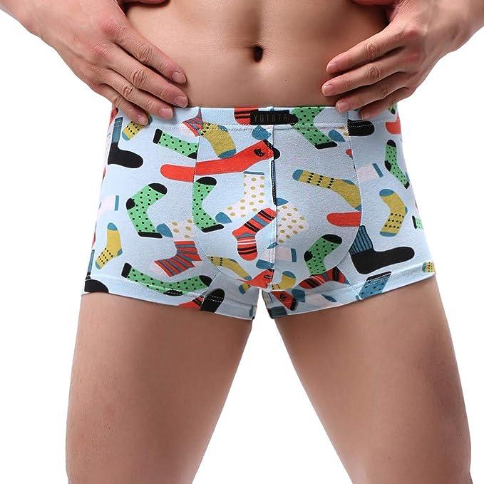 Shorts Boxershorts Unterhosen Bulge-Tasche Tanga Herren Bequem Elastisch
