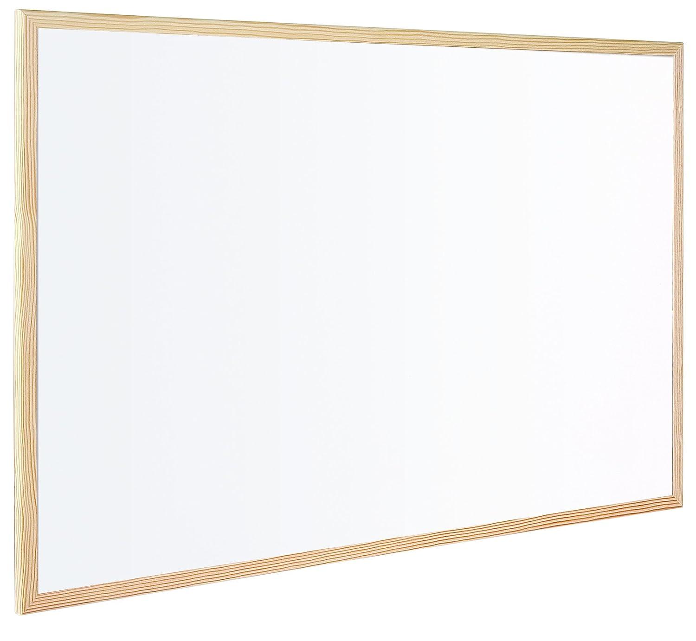 Bi Office Budget Pizarra blanca con marco de madera x cm no