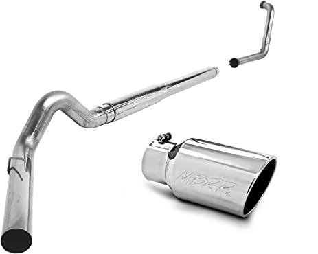 "MBRP S6234409 5"" T409 Stainless Steel Turbo Back Single Side Exit Exhaust System"