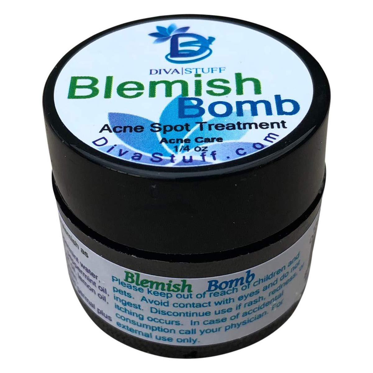 Diva Stuff Best Blemish Bomb Spot Treatment, Anti-acne spot treatment cream for Men and Women, 1/4 oz (Made in the USA)