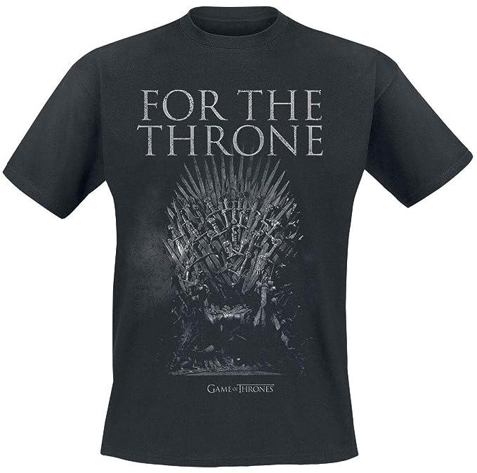 Game Of Thrones Juego de Tronos For The Throne Camiseta Negro XXL ...