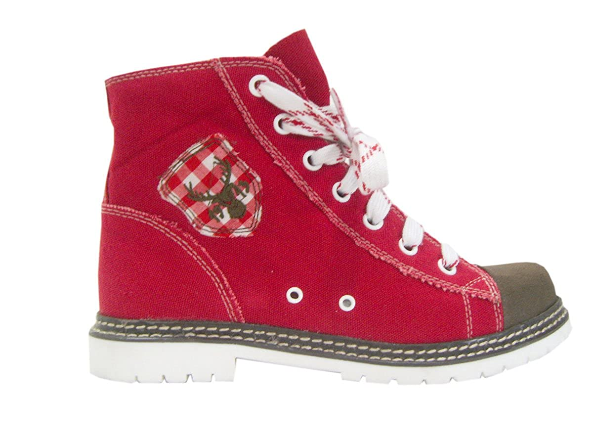 Canvas Vintage Stiefel Jacky rot braun rot Vintage Canvas Rot 85ebe2