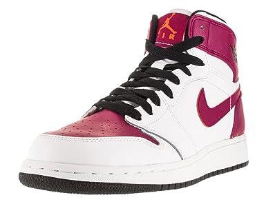 new arrival 32349 d0825 Nike Women  s Air Jordan 1 Retro High GG Basketball Shoes, Blanco (White  Black-Sport Fuchsia-Hot Lava), 6  Amazon.co.uk  Shoes   Bags