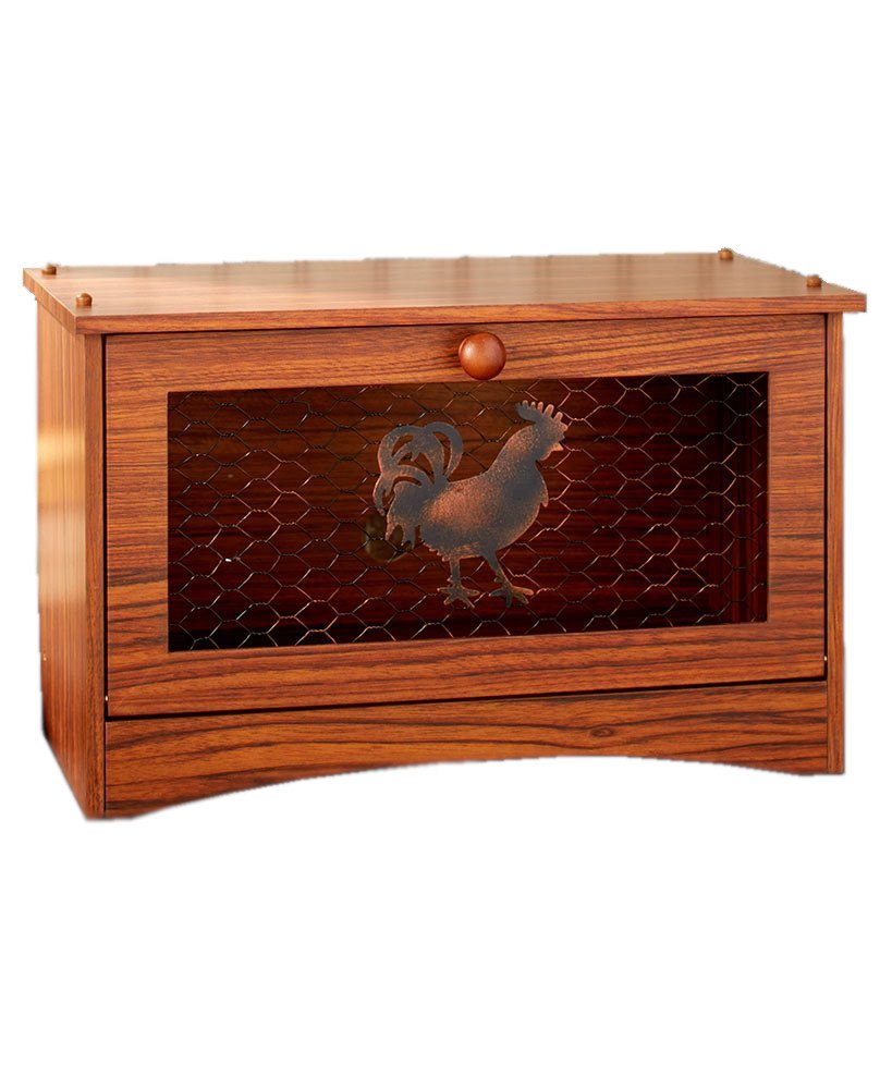 The Lakeside Collection Country Kitchen Bread Box-Rooster