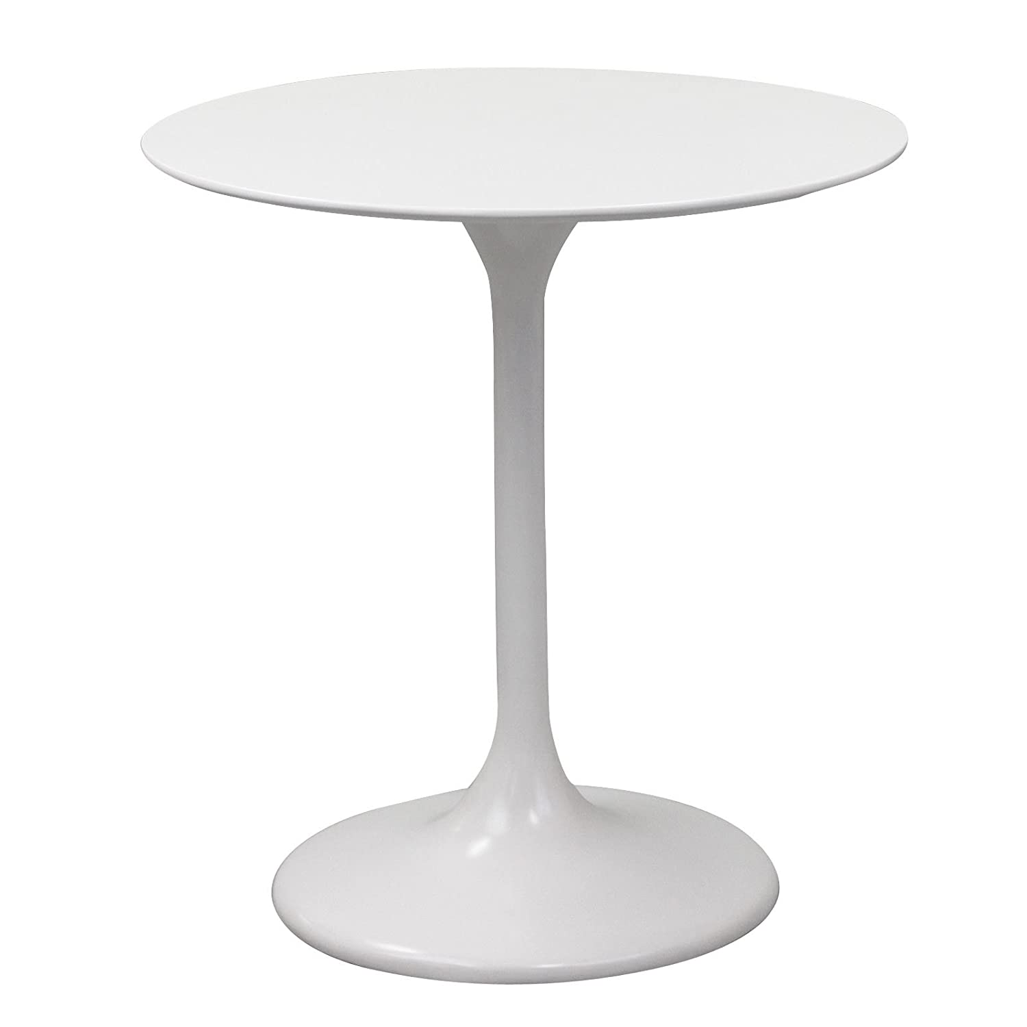 Amazon.com: Modway Lippa 28 Inch Fiber Glass Dining Table, White: Kitchen U0026  Dining
