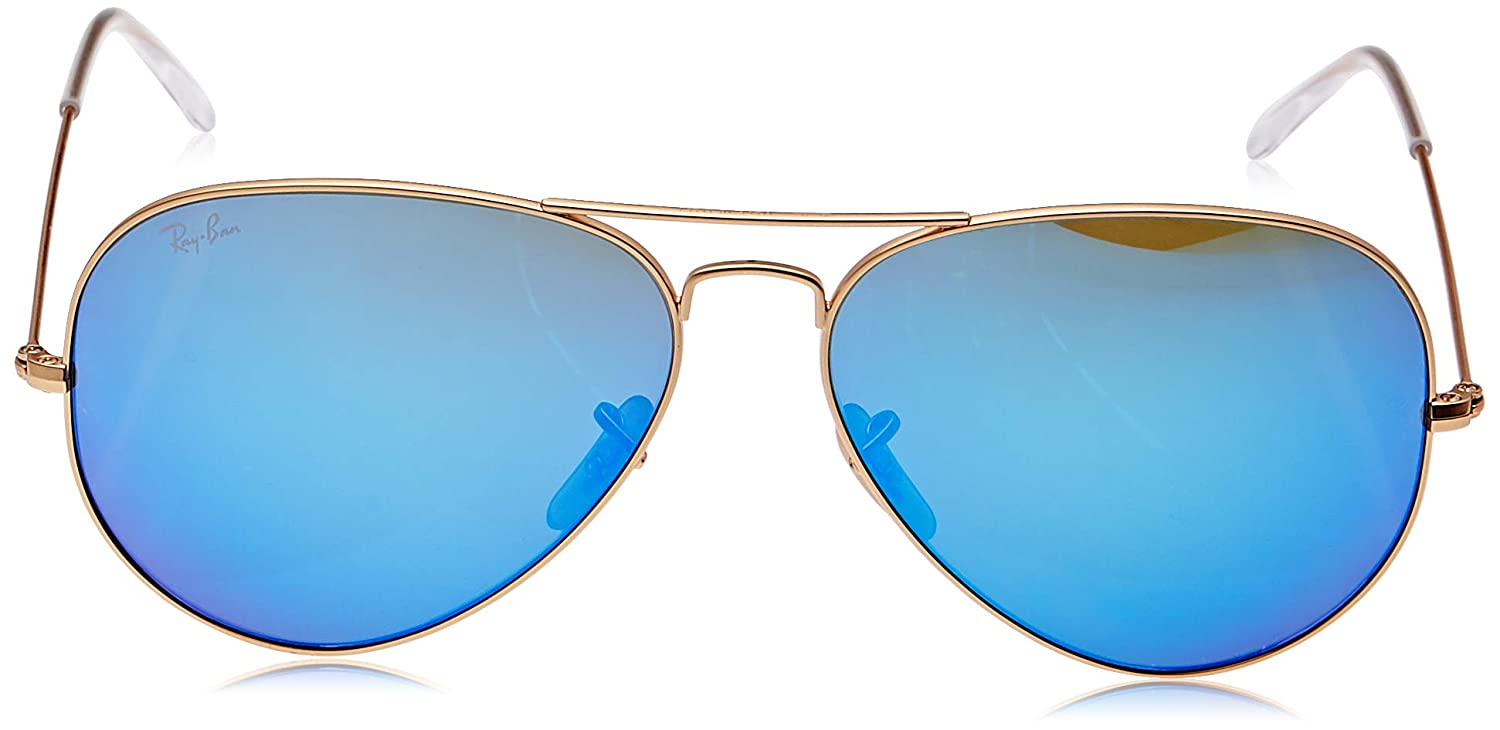 Amazon.com: Ray-Ban RB3025 Aviator Flash - Gafas de sol con ...