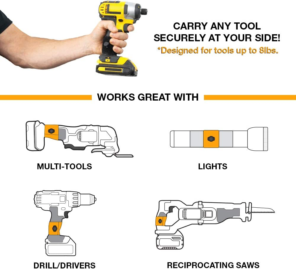 PRO Tool KIT 12 Piece Set for Carrying and Storing Your Tools! Spider Tool Holster