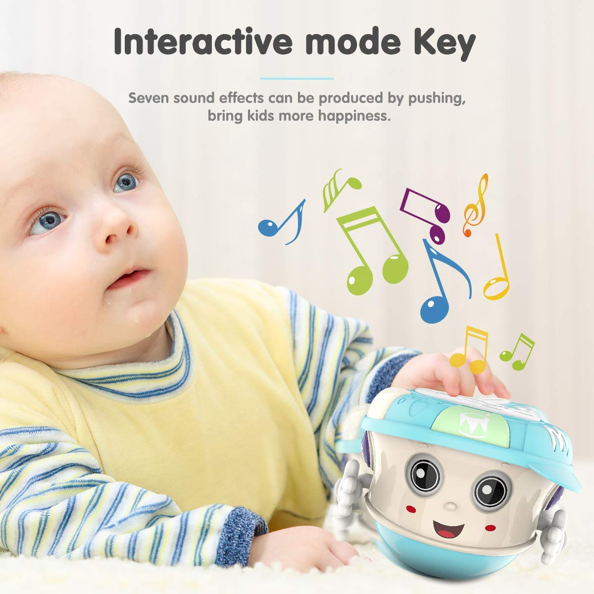 Big Shine Baby Musical Drum Toys with Lights,Sound,Music and Songs.Tumbler Electronic Baby Music Toys for 1 2 3 Year Old Boys and Girls Gifts.