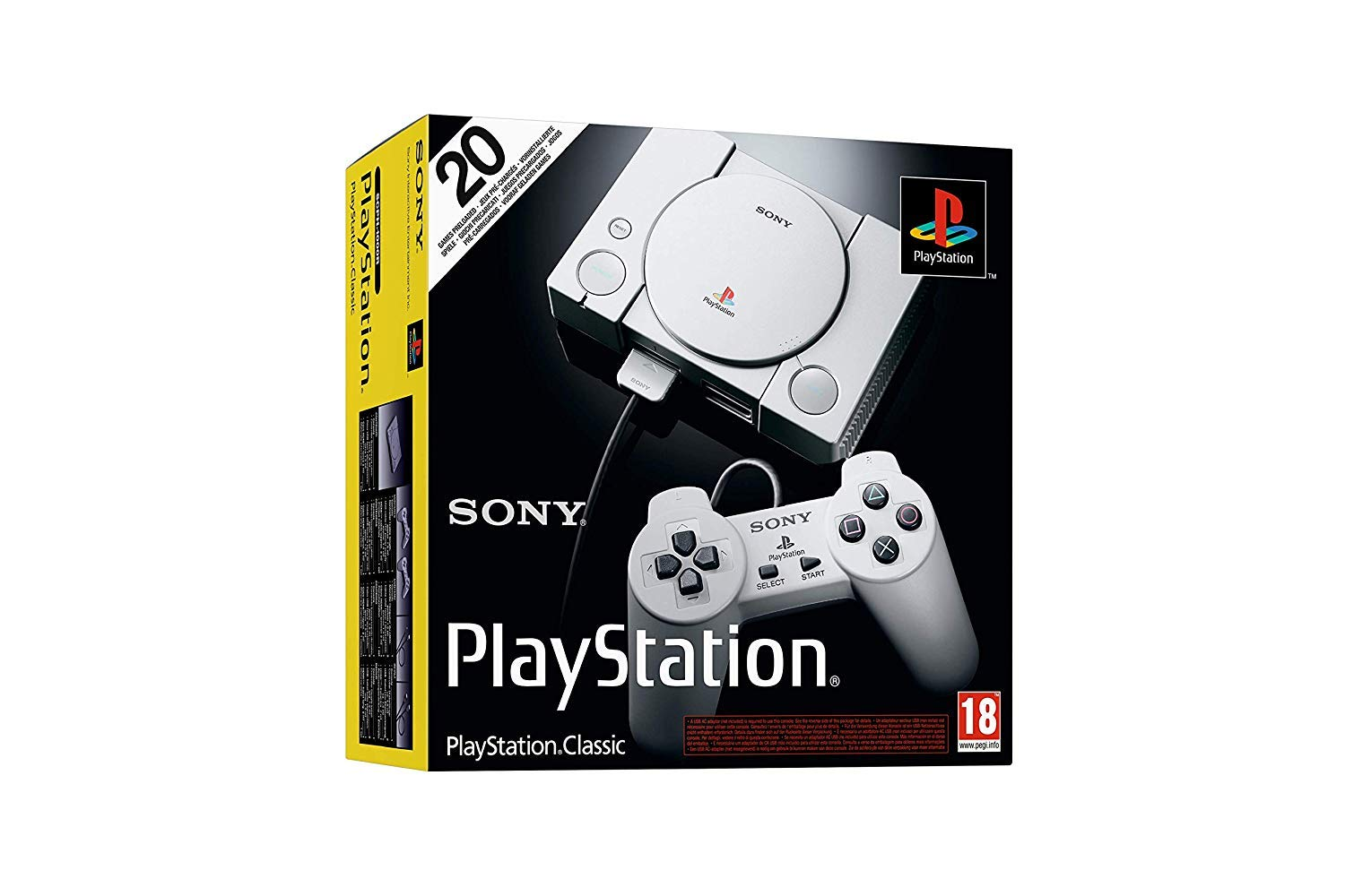 Playstation Classic Console with 20 Classic Playstation Games Pre-Installed Holiday Bundle, Includes Final Fantasy VII…