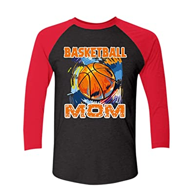 bb1105bf3ad Amazon.com: TeeZaa Basketball Mom Raglan T Shirts Design for You: Clothing