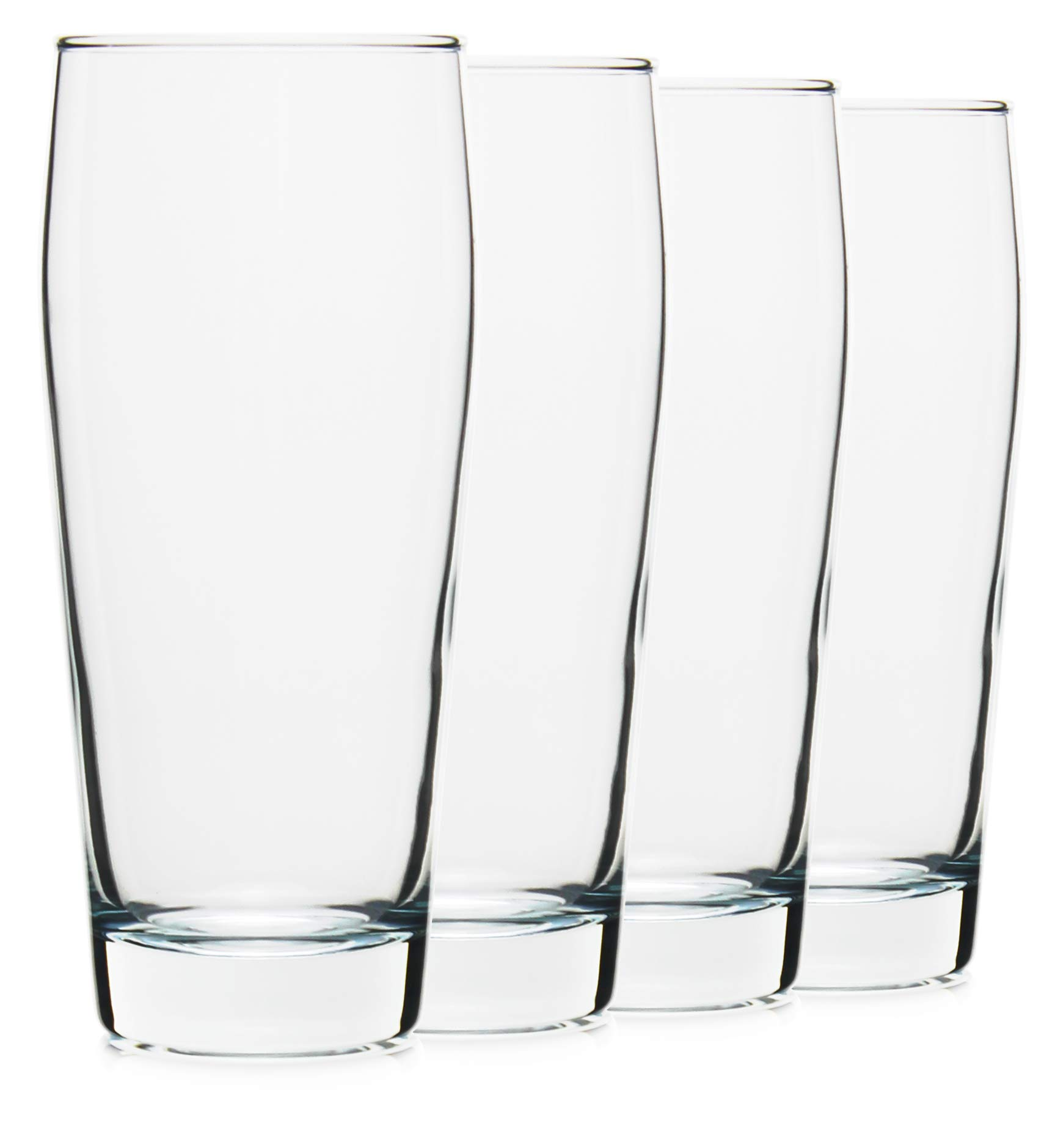 20oz Craft Pub Beer Glasses Made in the USA, Set of 4 by Serami