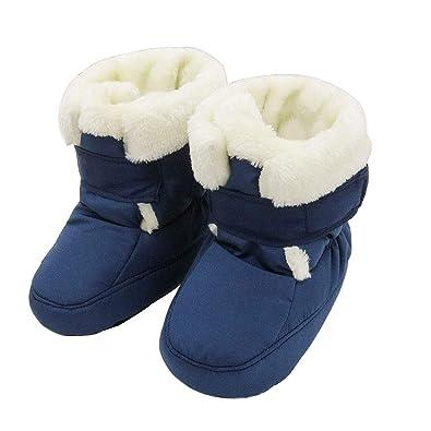 official photos 2cc9c 254a1 KVbaby Krabbelschuhe Baby Warm Halten Lauflernschuhe Winter Winddicht  wasserdicht Schneestiefel Weiche Sohlen Krippe Schuhe Stiefel