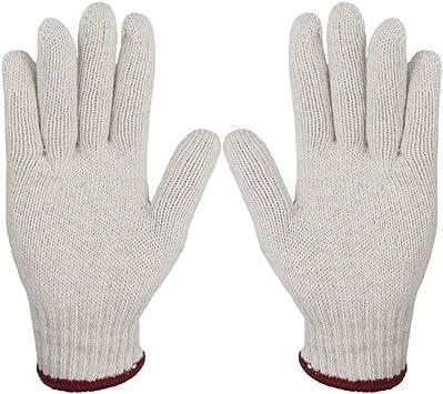 12 pares de guantes de trabajo 700 g de espesor Antideslizante resistente al desgaste Guantes de algodón Eczema Crema hidratante de piel seca (grande): Amazon.es: Hogar