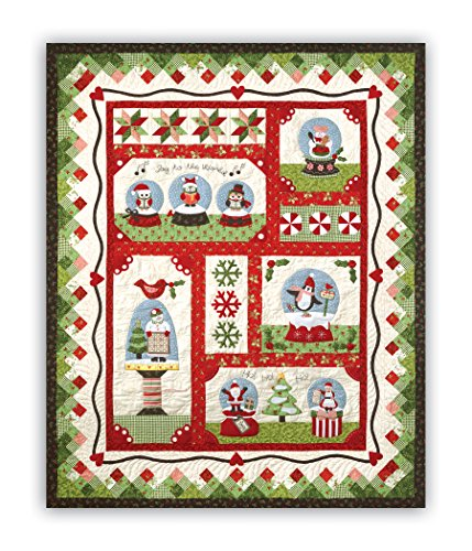 Snow Globe Quilt Kit - Includes All Fabrics, Specialty Fabrics and Patterns as Original by Homespun Hearth
